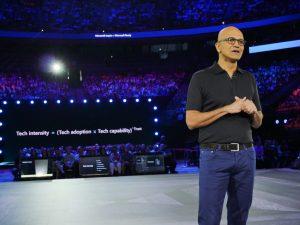 Microsoft CEO Satya Nadella at Microsoft Inspire 2019