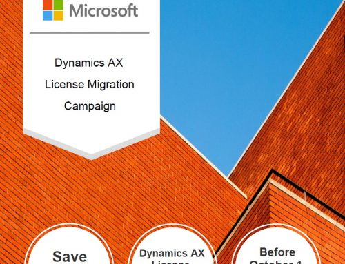 Dynamics AX License Migration Campaign