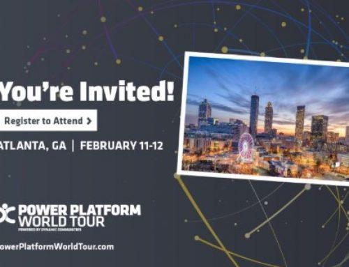The Power Platform World Tour in Atlanta next week..!