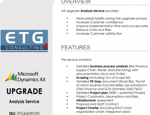 AX Upgrade Analysis Service has been published on Microsoft AppSource
