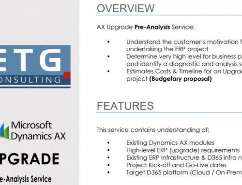 Free AX Upgrade Pre-Analysis Service has been published on Microsoft AppSource